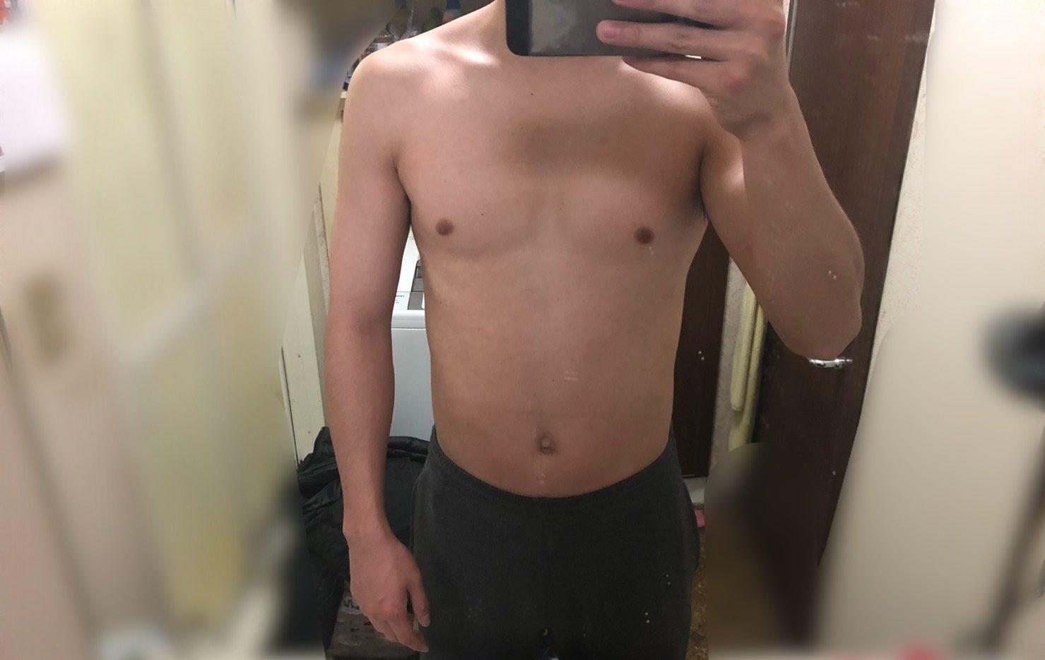 筋トレ2ヵ月目の体